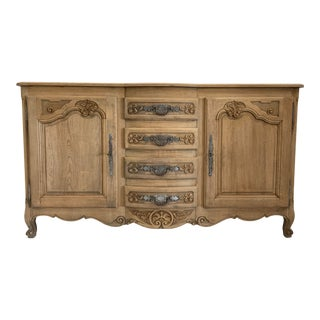 French Louis XV Style Bleached Sideboard For Sale