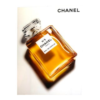 Original Chanel Advertising Perfume Store Display Sign Plexi Glass Arcylic For Sale