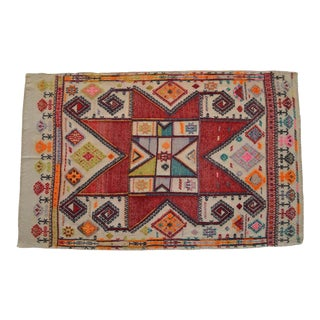 4x6 Rug. Hand-Woven Antique Turkish Kilim Rug - 3′7″ X 5′8″ For Sale