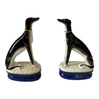 Maitland Smith Staffordshire Style Whippets- a Pair For Sale