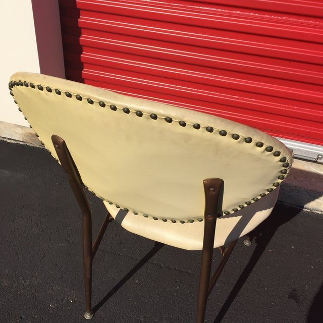 Mid-Century Modern Metal Framed Chair - Image 7 of 9