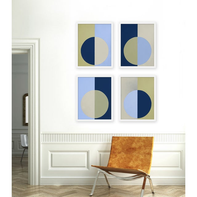 "Set of 4 giclée prints on textured fine art paper with white frames. Set of 4 measures 32"" x 40""; individual framed print..."