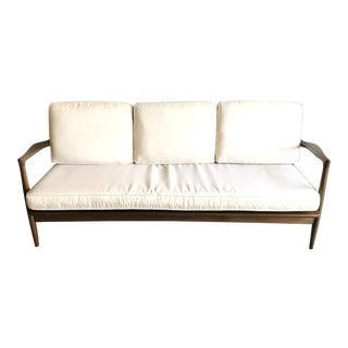 Mid Century Danish Modern Ib Kofod Larsen for Selig Settee For Sale