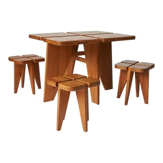 1960s Lisa Johansson Pape Dining Table and Stools - Set of 4 For Sale