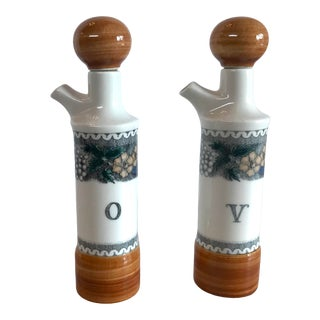 Vintage Goebel West German Oil and Vinegar Set- 2 Pieces For Sale
