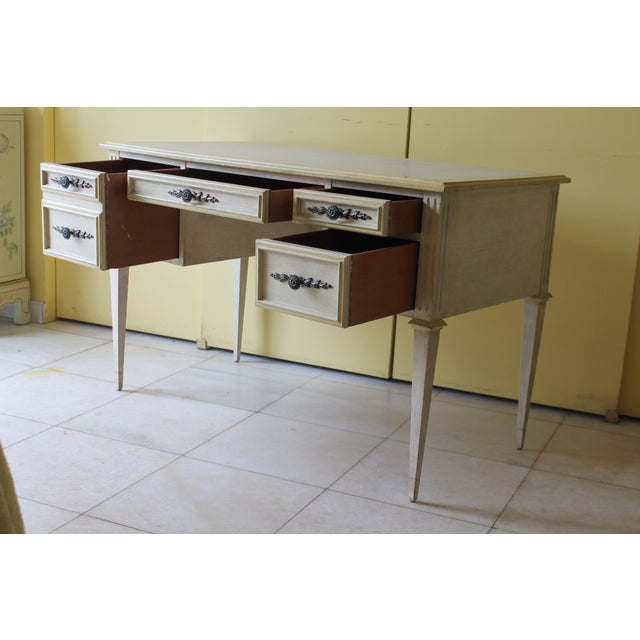 1960s 1960s Vintage Ladies Kneehole Writing Desk For Sale - Image 5 of 13