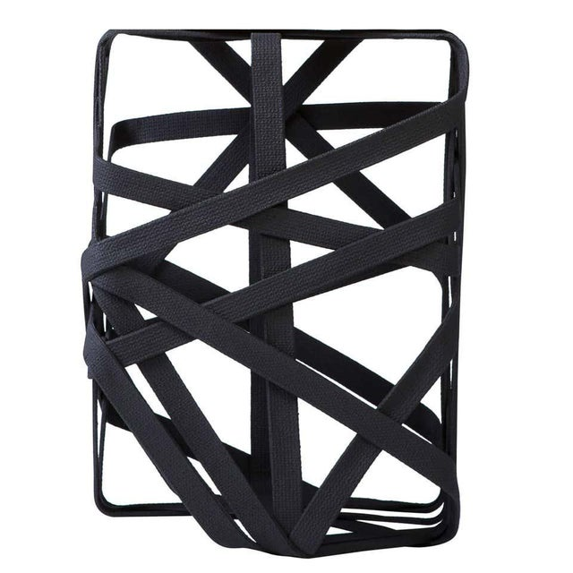 Industrial Rectangular Side Table Made From Hardened Cotton Strips For Sale - Image 3 of 3