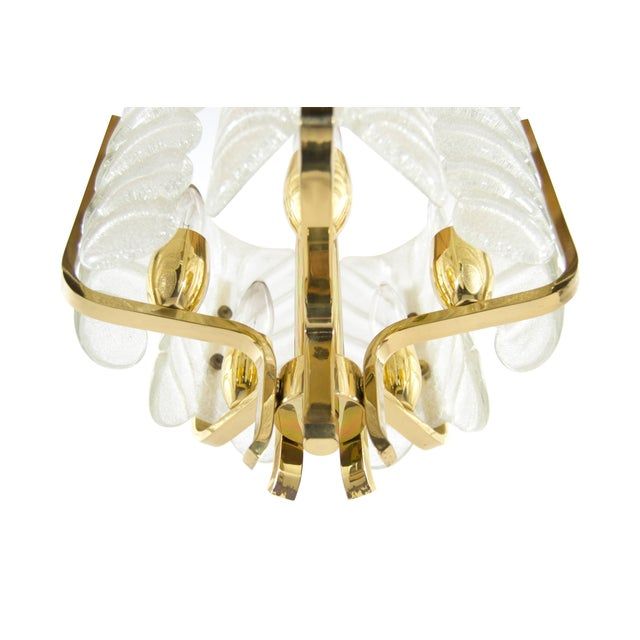 Gold Murano Glass Brass Chandelier by Carl Fagerlund for Orrefors, Sweden, 1960s For Sale - Image 8 of 10