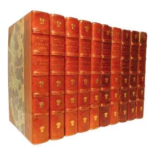 Early 20th Century Decorative Leather Volume Set, Works of Eugene Field - 10 Books For Sale