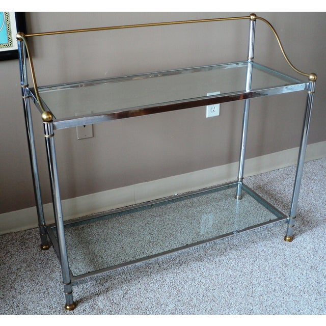 Vintage Chrome & Brass Console - Image 10 of 11