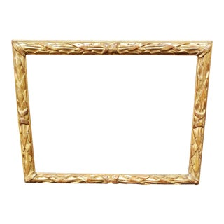 18th C Italian Louis XVI Gilt Wood Frame With Original Gilt. For Sale