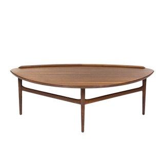 Mid-Century Modern Finn Juhl for Baker Walnut Coffee Table For Sale