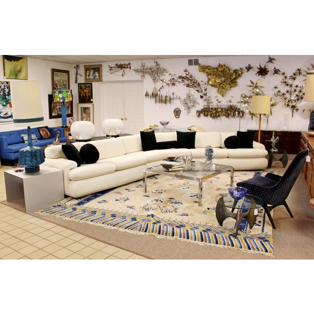 Contemporary Modern Kagan Style Preview 3 Pc Curved Sectional Sofa 1980s For Sale - Image 10 of 11
