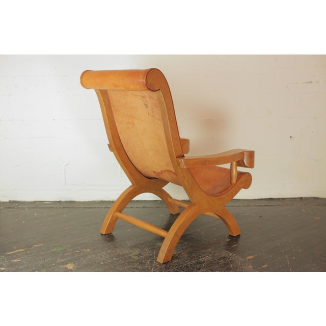 Wood Clara Porset Butaque Chair For Sale - Image 7 of 13