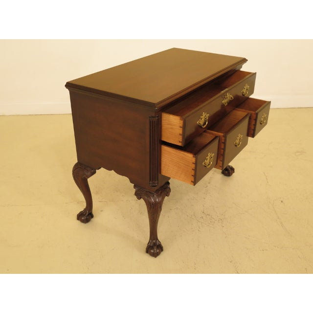 Kittinger Colonial Williamsburg Clawfoot Mahogany Lowboy For Sale - Image 9 of 11