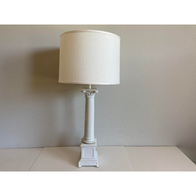 1950s 1950s Italian Porcelain Column Lamps - a Pair For Sale - Image 5 of 10