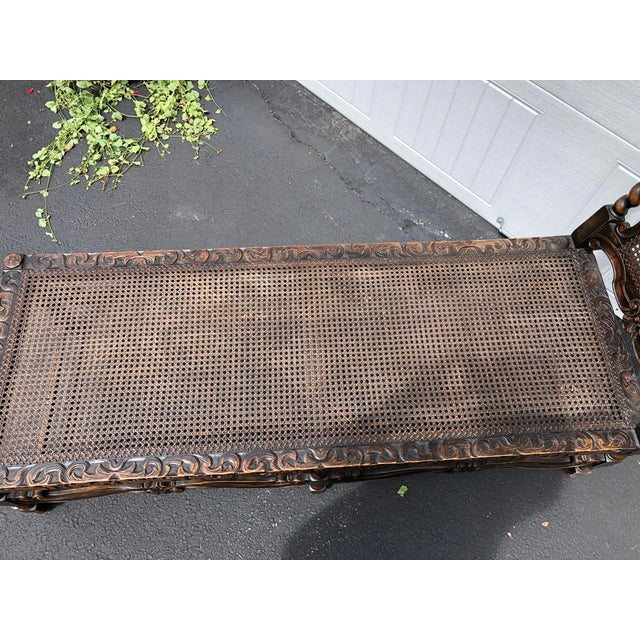 20th Century Jacobean Style Caned Chaise Lounge For Sale In Providence - Image 6 of 10