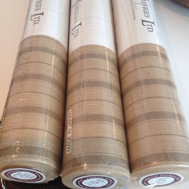 Philips Phillip Jeffries Natural Textured Wall Covering- Sold Individually/ 3 Rolls Available For Sale - Image 4 of 5