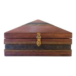 Moroccan Pyramid Wooden Box