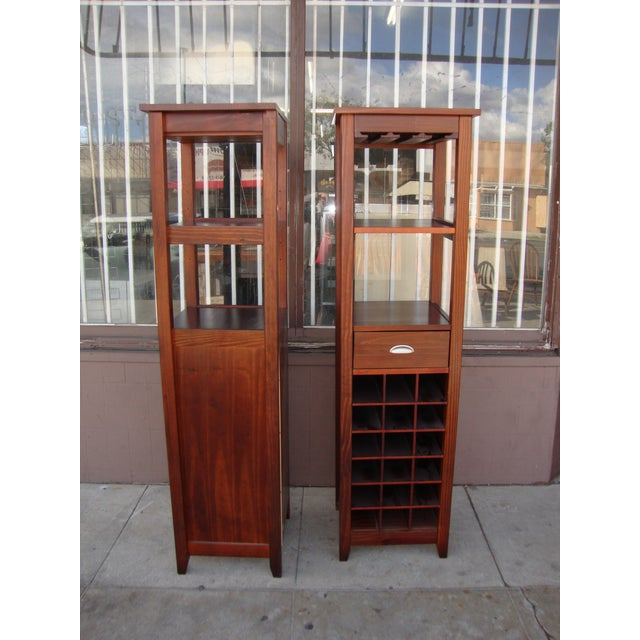 Wine 1980s Wooden Wine Cabinets - a Pair For Sale - Image 8 of 11