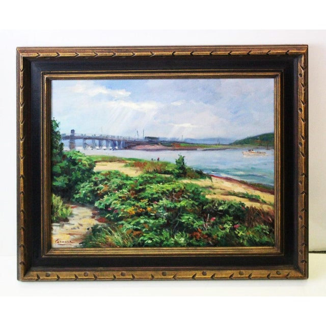 Green Caddell Martha's Vineyard Scene Painting For Sale - Image 8 of 8