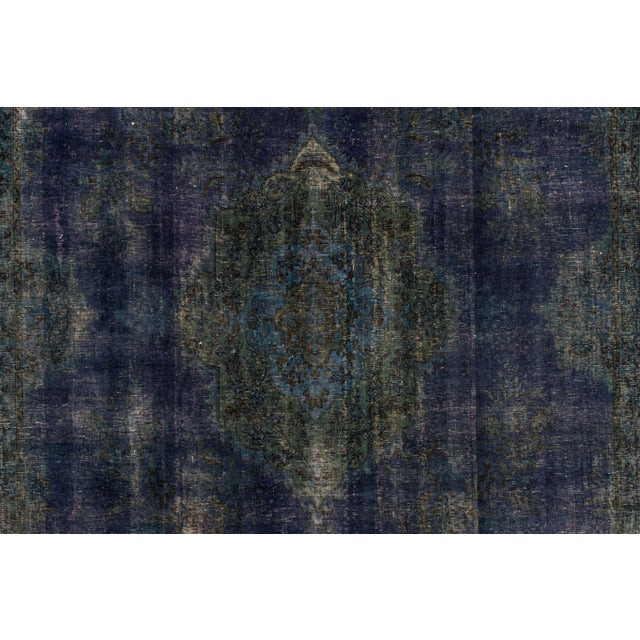 "Traditional Apadana - Vintage Overdyed Rug, 9'4"" X 13'0"" For Sale - Image 3 of 6"