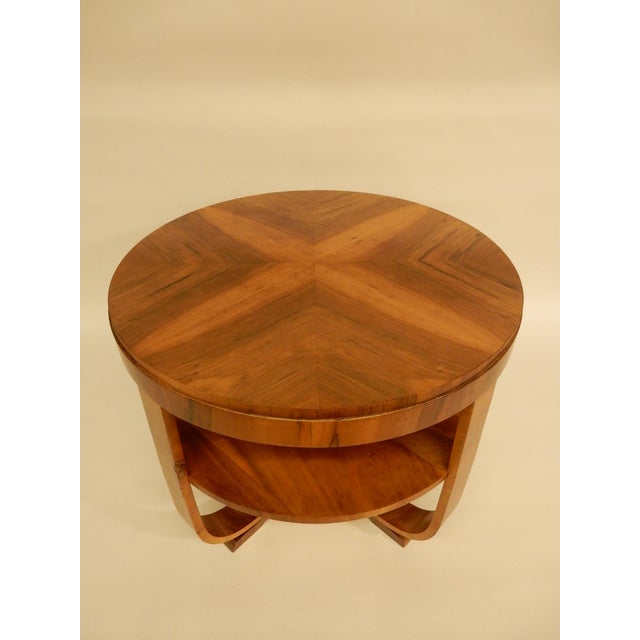 1930s Art Deco Walnut Side Table For Sale In New Orleans - Image 6 of 6