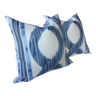 "Manuel Canovas Zarina in Sapphire Blue Pillows - a Pair, 22"" For Sale"