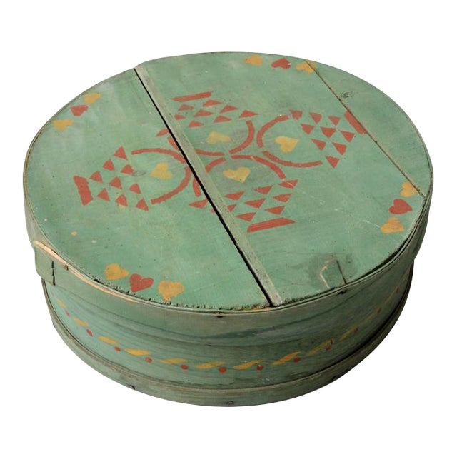 Antique Painted Band Box - Image 1 of 8