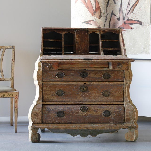 Dutch Rococo Painted Desk For Sale - Image 9 of 9