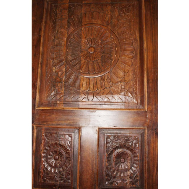 19th Century Vintage Rustic Wood Door For Sale In Miami - Image 6 of 7