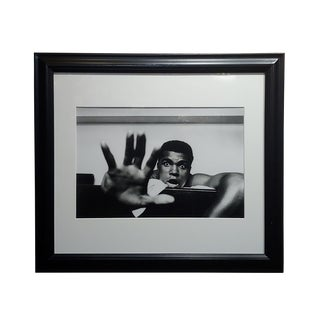 "Len Trievnor -Cassius Clay ""Gime Me Five"" Iconic Gelatin Silver Photograph For Sale"