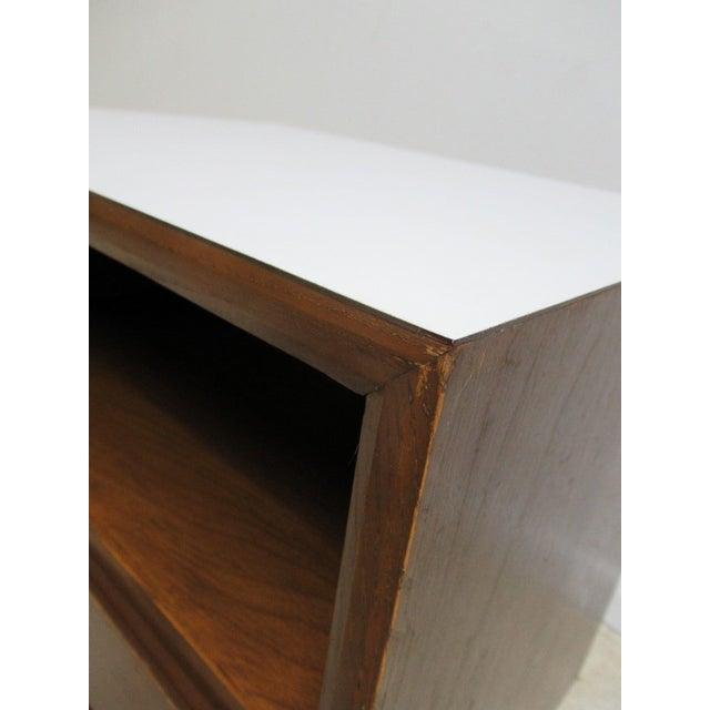 Walnut Vintage Danish Modern Walnut Lamp Table For Sale - Image 7 of 7