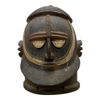 Antique Cawed African Mask For Sale