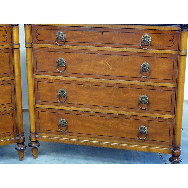 Kittinger Pair of Kittinger Georgian Style Rosewood Commodes For Sale - Image 4 of 11