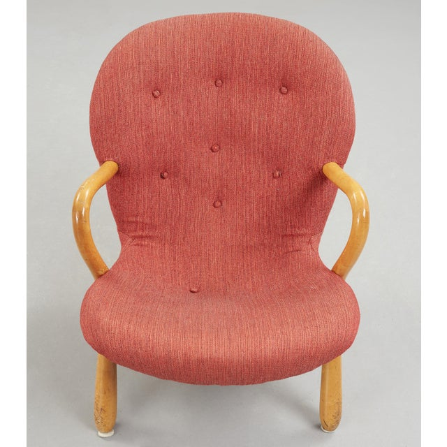 """Philip Arctander 1940s """"Clam"""" Easy Chair Designed by Philip Arctander, Denmark For Sale - Image 4 of 5"""