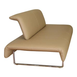 "Contemporary Modern B&B Italia Tan Leather ""Cloud"" Sofa"