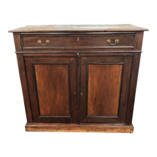 Antique Wood 2 Door Cabinet For Sale