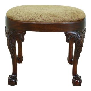 Kindel Ball & Claw Winterthur Collection Mahogany Ottoman For Sale