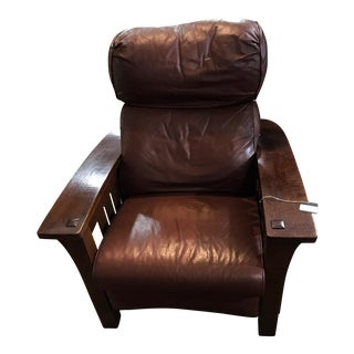 Modern Stickley Leather Chair For Sale