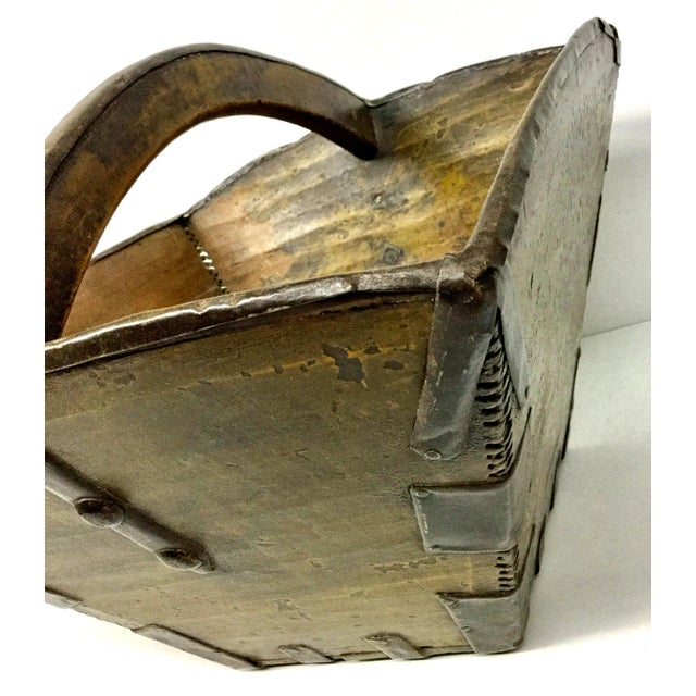 20th Century Chinese Wood & Metal Rice Bucket For Sale In Boston - Image 6 of 11