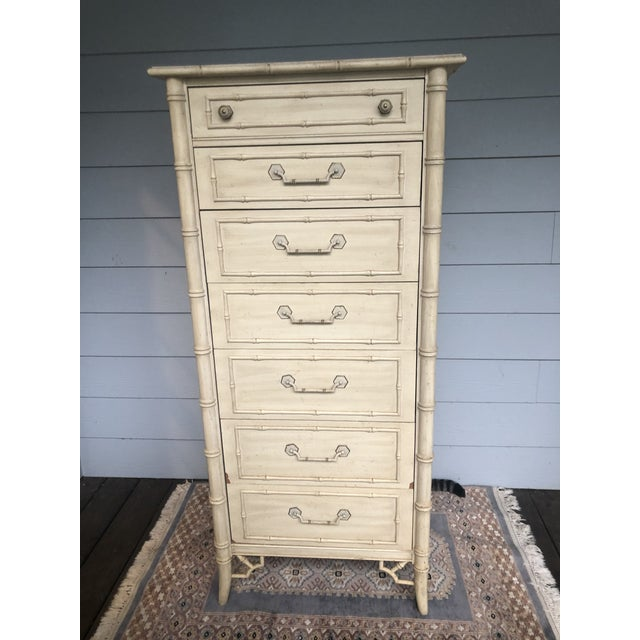 Vintage Faux Bamboo Thomasville Allegro Lingerie Chest For Sale In Charleston - Image 6 of 8