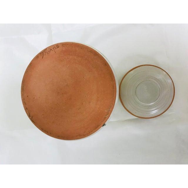 Ceramic Modern Contemporary Glazed Lidded Crock Canister Studio Pottery Jar For Sale - Image 7 of 8