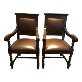 Pair of English Arm Chairs For Sale