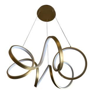 Kuzco Lighting Antique Brass Synergy Led Chandelier For Sale