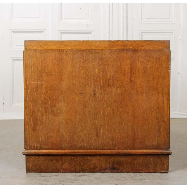 French 20th Century Oak Art Deco Parson Desk For Sale In Baton Rouge - Image 6 of 12