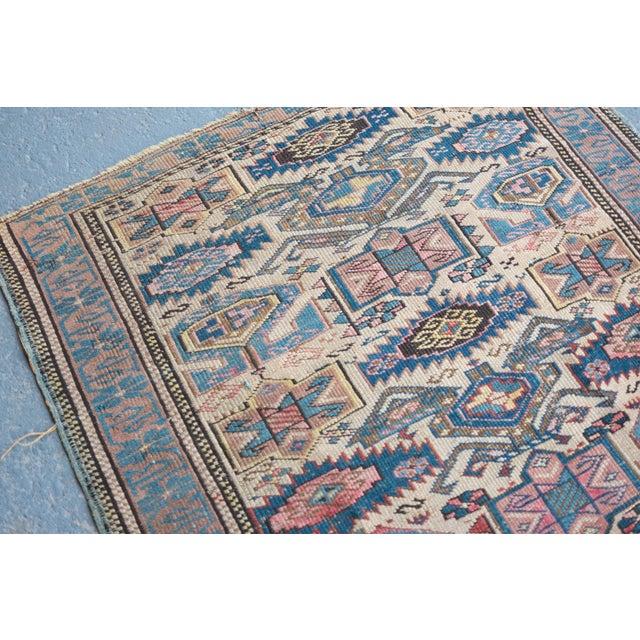 """Antique Caucasian Kuba Rug -- 2'11"""" x 3'7"""" - Image 3 of 7"""