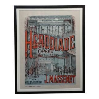 1910s Herodiade Opera De Jules Massenet Vintage French Poster