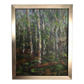 Birch Forest Original Abstract Oil Painting