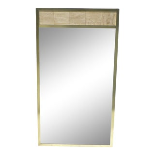 Post Modernist 1980's Travertine Mirror